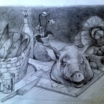 Pencil preliminary sketch