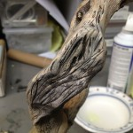 Painted wood texture after sculpt