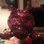 Finished Hog-head disco ball