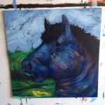 Blue Fat Horse work