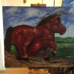 Red Fat horse work